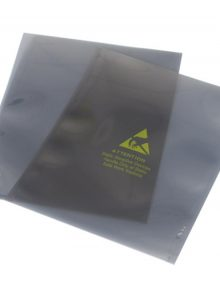 Metal shielding bags open top