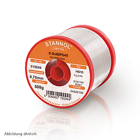 Soldering wire HS10 - Sn60,Pb40 - 0.5 mm , 250 gr , 2.5% Flux
