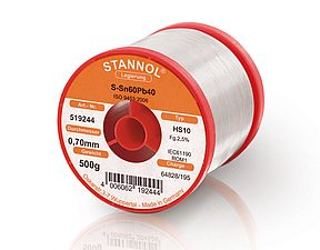Soldering wire HS10 - Sn60,Pb40 - 0.8 mm , 1 kg , 2.5% Flux