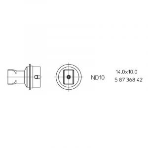 ND 10 Hot air nozzle